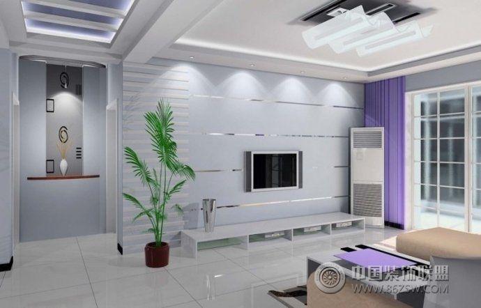 2014最流行电视背景墙装修案例-客厅装修效果图-八六