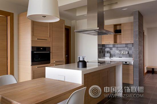 89平简约原木色美家-厨房装修效果图-八六(中国)装饰