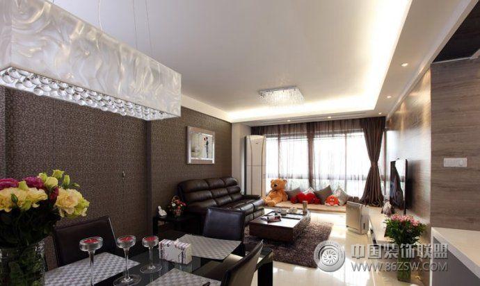 138平欧式时尚婚房欧式客厅装修图片