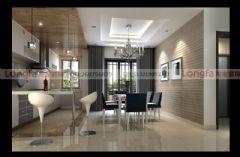成都龙发装饰-泰悦湾现代,前卫设计风格现代风格三居室