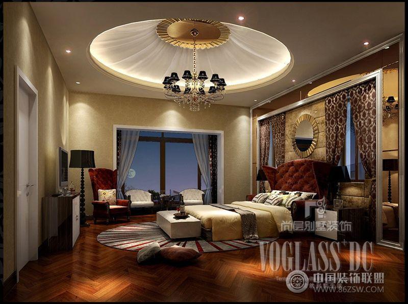 成都尚层新装主义别墅欧式卧室装修图片