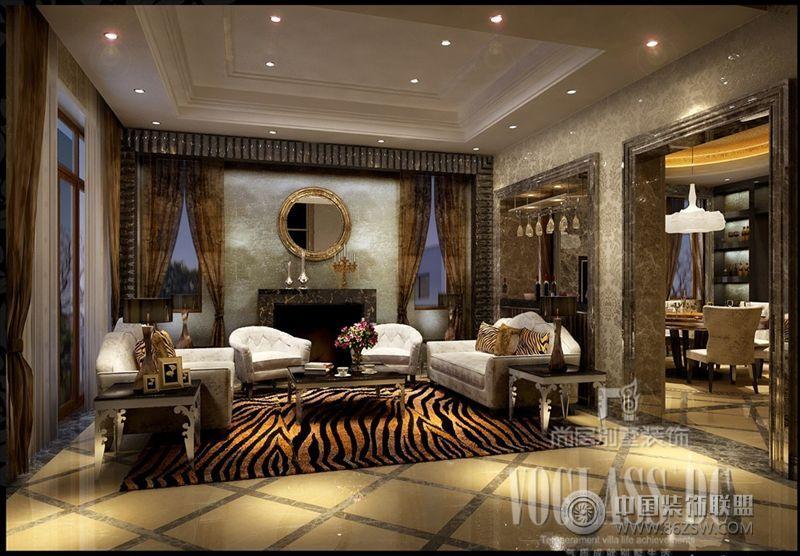 成都尚层新装主义别墅欧式客厅装修图片
