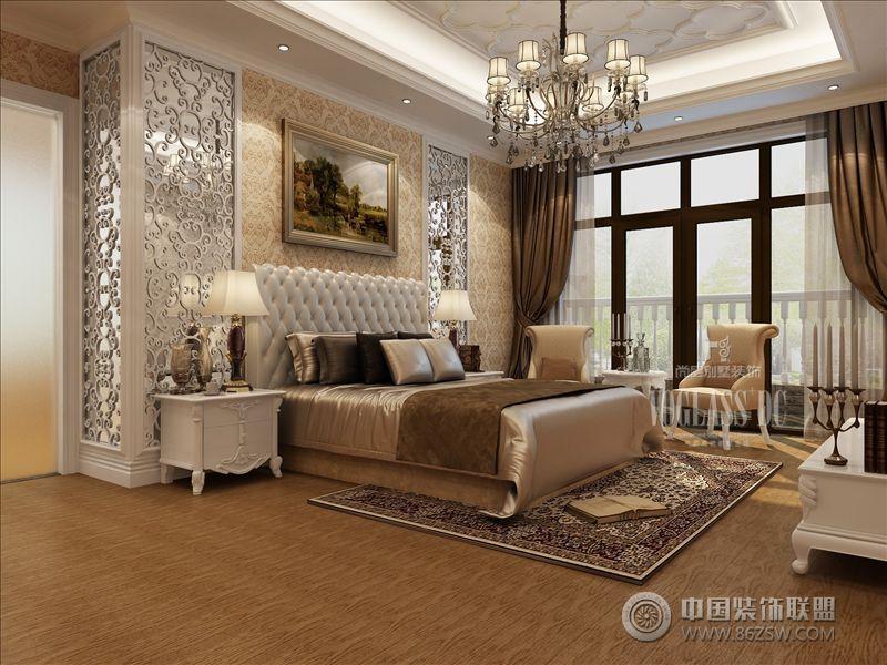 成都尚层装饰城南别墅标志欧式卧室装修图片