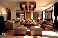 成都尚层装饰国奥村中式风格四居室