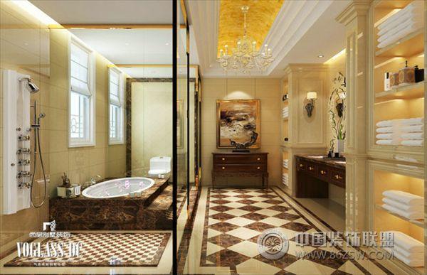 成都尚层装饰五龙山联排欧式别墅-卫生间装修图片