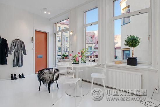 50平北欧单身公寓-餐厅装修图片