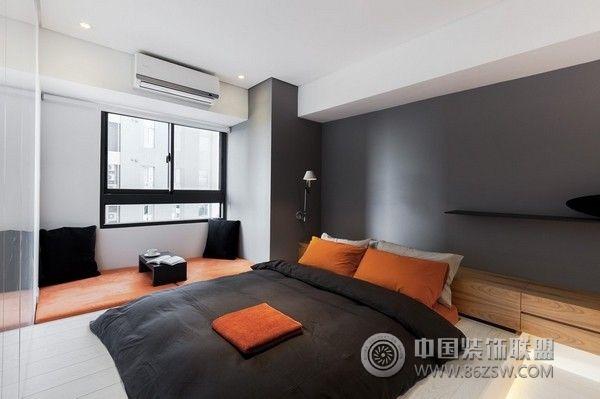 72平简约时尚公寓简约卧室装修图片