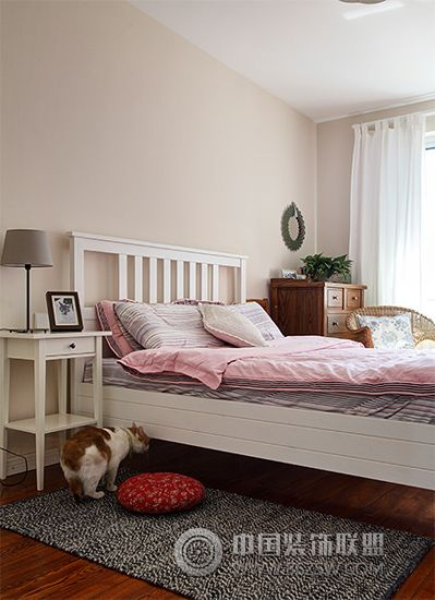 92平北欧搭两居温馨家欧式卧室装修图片