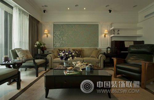 118平美式古典雅居-客厅装修效果图-八六(中国)装饰(.