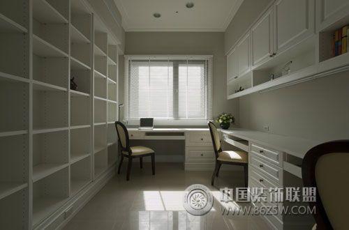 176平美式休闲大户型设计-书房装修图片