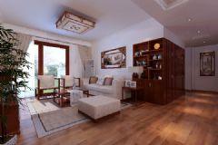 广视花园中式中式风格三居室