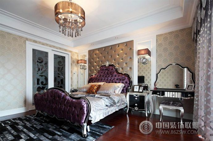 136平简欧三室两厅奢华家-儿童房装修效果图-八六