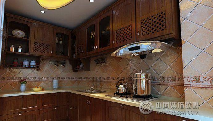 创意设计演绎最美中式厨房-厨房装修图片