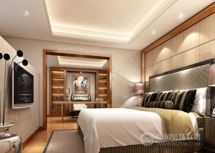婚房卧室装修效果图-卧室装修图片