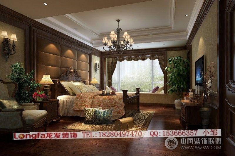 德阳枕水小镇沐月阁美式卧室装修图片