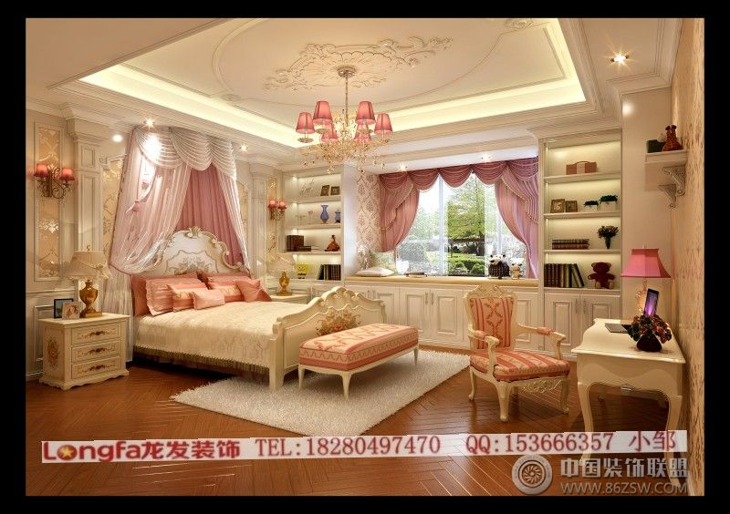 华侨城东岸欧式儿童房装修图片