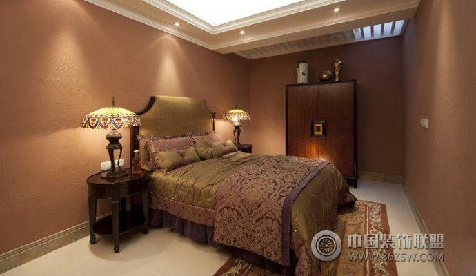 198平中式欧式混搭豪华别墅-卧室装修图片