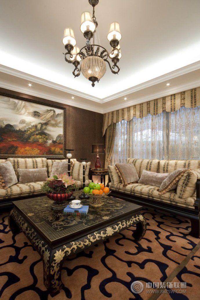 198平中式欧式混搭豪华别墅-整套大图展示-风格装修