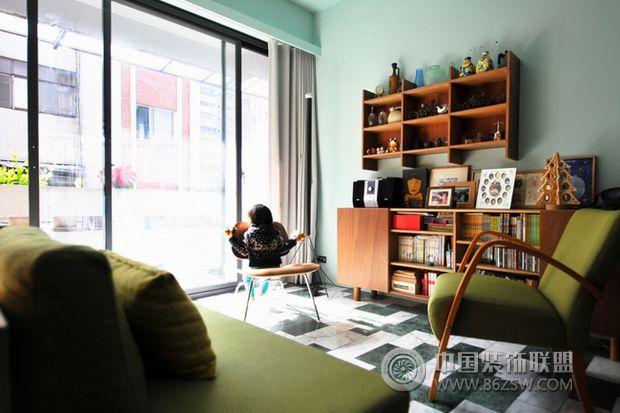北欧风复古公寓 小空间 大智慧-客厅装修效果图-八六