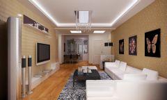 融元景园小区效果图现代风格三居室