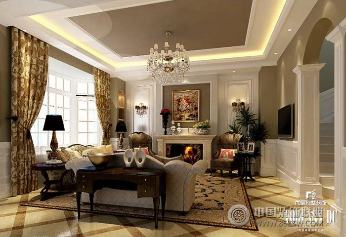 成都尚层装饰别墅样板间-客厅装修图片