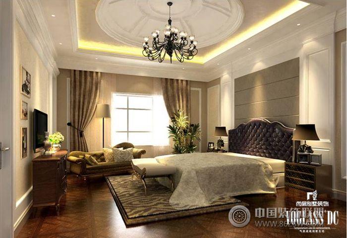成都尚层装饰别墅样板间欧式卧室装修图片