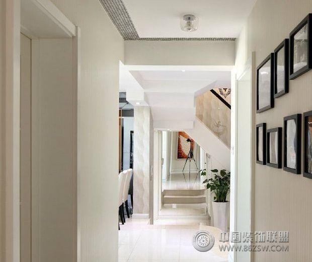 奢华复式住宅 现代风格家装-过道装修效果图-八六()(.图片