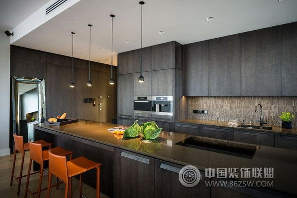 采光超好的阳光房 现代简约风格公寓设计-厨房装修图片