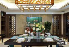 精装豪宅少见的新中式风格成都尚层装饰中式风格四居室