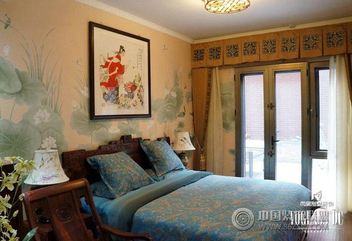 三居室装修效果图 中式风格三居室卧室装修效果图