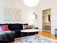 北欧风格木质地板设计的小清新客厅欣赏