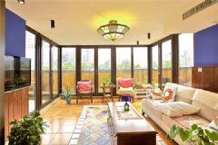 成都尚层装饰有着超级景观阳台地中海风格三居室