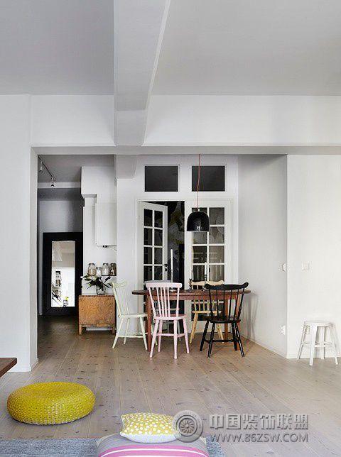 96平米文艺范儿住宅 灰白色调简约家-客厅装修效果图