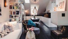 70平米瑞典公寓设计 美丽精致的阁楼