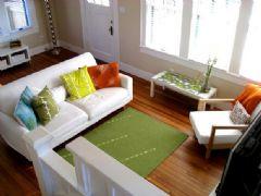 淡淡抹茶绿色调家 清新柔美复式住宅