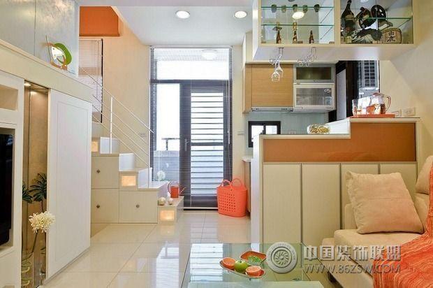 35平米紧凑小户型装修 收纳轻松搞定现代客厅装修图片