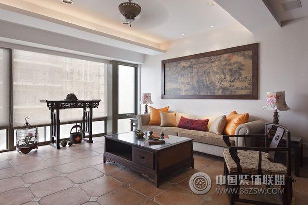 别具中国味的中式古典风格三居室-客厅装修图片