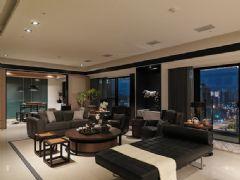 360平的时尚现代空间 深灰色调家居住宅