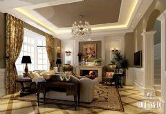 成都尚层装饰中粮御岭湾的的欧式混搭别墅欧式风格别墅
