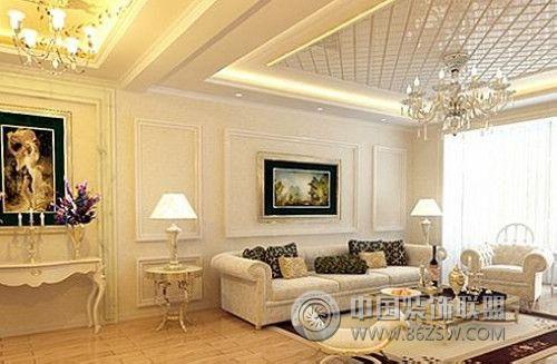 简欧客厅效果图-客厅装修效果图-八六(中国)装饰联盟