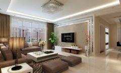 现代简约风格设计80平三室两厅装修