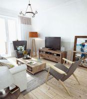 85平混搭公寓设计 自然质朴原木风家居