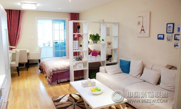 45平简约小户型新房装修-客厅装修效果图-八六(中国)