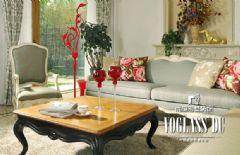 成都尚层装饰-保利康桥美式设计美式风格三居室