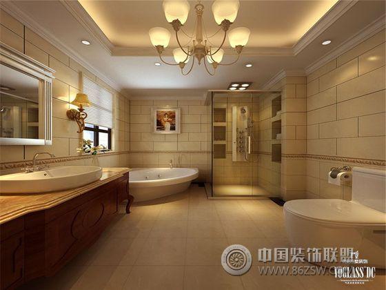 成都尚层装饰柔情水乡别墅设计-卫生间装修图片