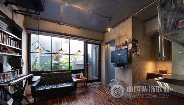 53平米轻工业铁件风公寓 有个性的小屋-书房装修图片