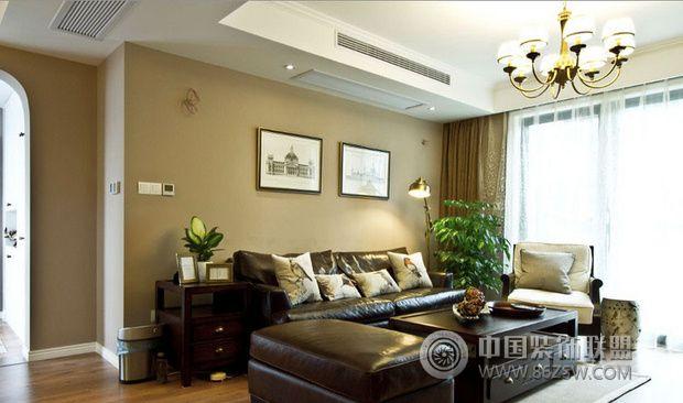 美式風格小戶型-客廳裝修效果圖