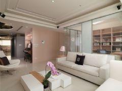 淡粉色的雅致柔美 唯美简约三居室设计