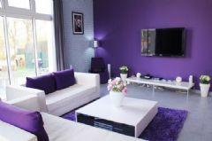 浪漫薰衣草紫色住宅 梦幻般的世界