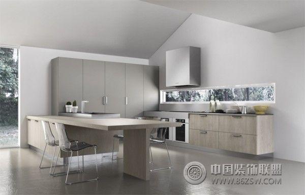 开放式厨房设计案例-装修效果图-八六装饰网装修效果